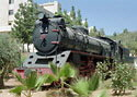 Steam locomotive 84 preserved at Amman University, Jordan