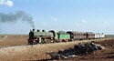 Steam locomotive 262 with train from Dera'a to Damascus, Hedjaz Railway, Syria