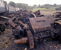 Nuclear-Flask Crash Test, class-46 locomotive traction motor, Old Dalby
