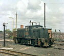 NCB 0-6-0 diesel locomotive no. 20-110-704 at Seaham colliery,