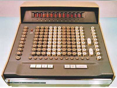 Old Anita Mk VII calculator