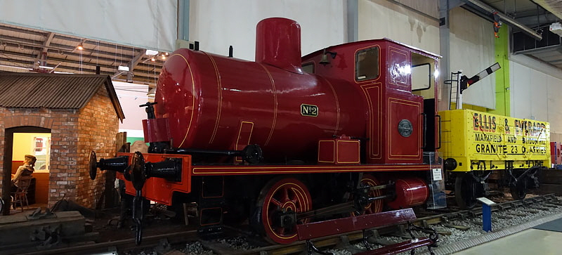 Snibston Discovery Museum Panorama Photograph Locomotives
