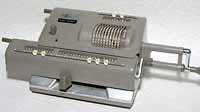 Old mechanical calculator